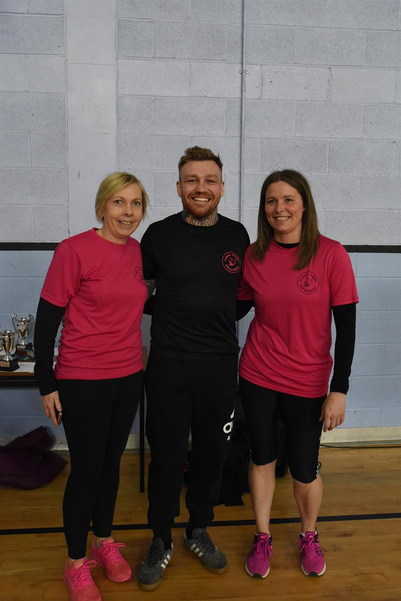Guest of honour last year Philip Mulpeter with Miriam Holland and Sinead Dempsey .JPG
