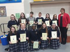 First Year Awards Ceremony At Colaiste Iosagain .
