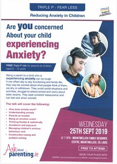 Useful Talks/Courses  for Parents About Teen Anxiety etc